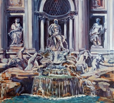 """Painting titled """"Rome. The Trevi Fou…"""" by Mary Grinkevich, Original Art, Oil"""