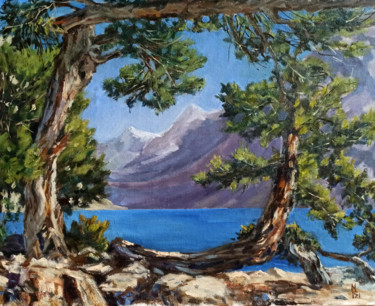 """Painting titled """"Summer day at the l…"""" by Mary Grinkevich, Original Art, Oil"""