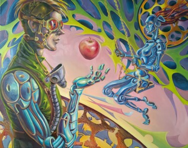 """Painting titled """"The Forbidden fruit"""" by Greg Known, Original Art, Oil"""