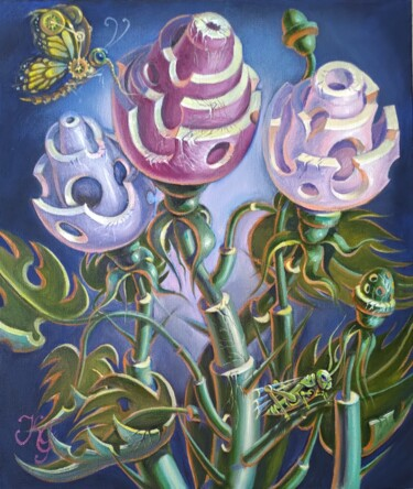 """Painting titled """"Flowers"""" by Greg Known, Original Art, Oil"""