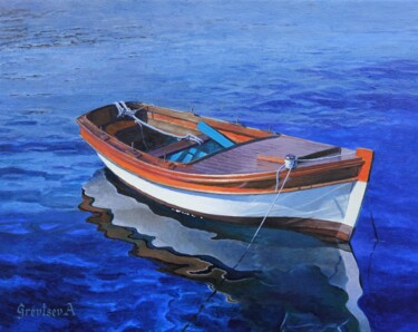 """Painting titled """"Reflection in water"""" by Антон Гревцев, Original Art, Oil"""