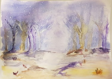 Nature Painting, watercolor, artwork by Ghislaine Rimmen-Mohl
