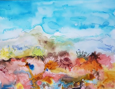 Nature Painting, ink, expressionism, artwork by Ghislaine Rimmen-Mohl