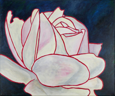 """Painting titled """"Rose pink II"""" by Gregor Stäuble, Original Art, Acrylic"""