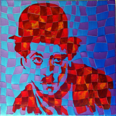 """Painting titled """"Charlot"""" by Thierry Guého, Original Art, Acrylic"""