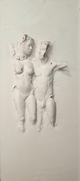 Nude Sculpture, plaster, figurative, artwork by Guillaume Werle