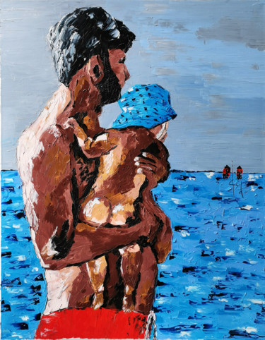 """Painting titled """"Look at the sea"""" by Gugo, Original Art, Oil"""
