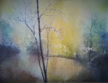 Nature Painting, watercolor, figurative, artwork by Guylaine