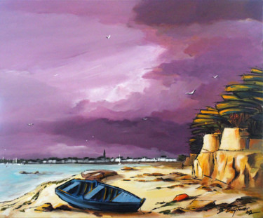 Seascape Painting, acrylic, fauvism, artwork by Guy Terrier
