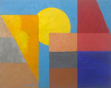 Color Painting, oil, geometric, artwork by Hannes Hofstetter