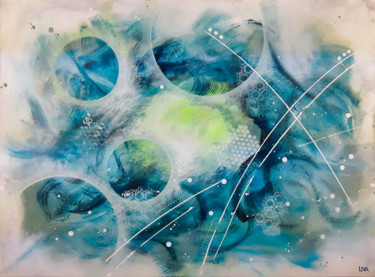 """Painting titled """"Full moon"""" by Helena Monniello, Original Art, Acrylic Mounted on Stretcher frame"""