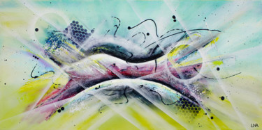"""Painting titled """"D'un bond"""" by Helena Monniello, Original Art, Acrylic Mounted on Stretcher frame"""