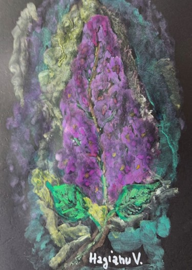 """Painting titled """"Beautiful and fragr…"""" by Viorica Hagianu, Original Art, Tempera Mounted on Glass"""