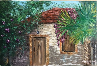 """Painting titled """"Gate to Heaven"""" by Hakan Erdem, Original Art, Oil Mounted on Stretcher frame"""