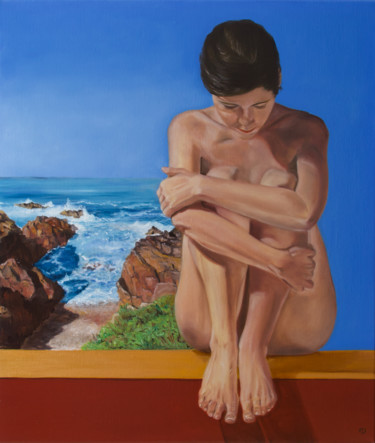 """Painting titled """"Penelope"""" by Danielle Hameleers, Original Art, Oil Mounted on Stretcher frame"""