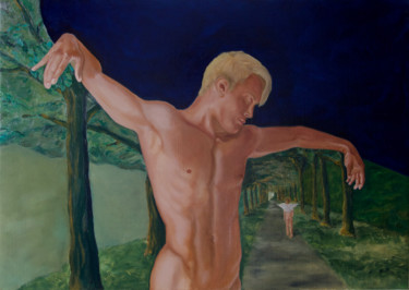 """Painting titled """"Endymion"""" by Danielle Hameleers, Original Art, Oil Mounted on Stretcher frame"""