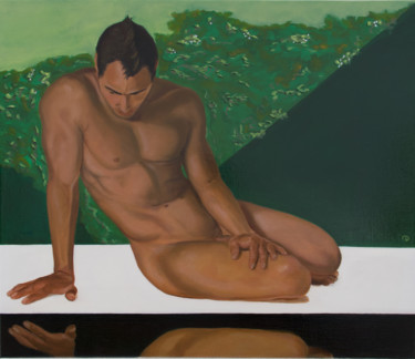 """Painting titled """"Narcissus"""" by Danielle Hameleers, Original Art, Oil Mounted on Stretcher frame"""
