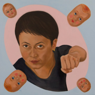 """Painting titled """"Stereotype"""" by Danielle Hameleers, Original Art, Oil Mounted on Stretcher frame"""