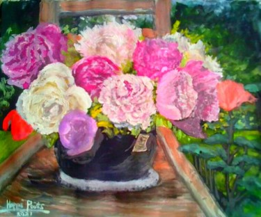 """Painting titled """"Every Lovely Peonies"""" by Sunshine Amos (Happipaints), Original Art, Watercolor"""