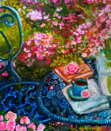 """Painting titled """"Greatest Love"""" by Sunshine Amos (Happipaints), Original Art, Watercolor"""