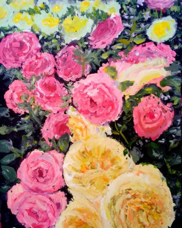 """Painting titled """"The Rose Song"""" by Sunshine Amos (Happipaints), Original Art, Acrylic"""
