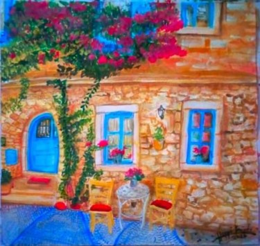 """Painting titled """"Bougainvillea Flowe…"""" by Sunshine Amos (Happipaints), Original Art, Watercolor"""