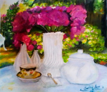 """Painting titled """"Glorious Time"""" by Sunshine Amos (Happipaints), Original Art, Watercolor"""