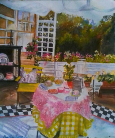 """Painting titled """"House of Love"""" by Sunshine Amos (Happipaints), Original Art, Watercolor"""
