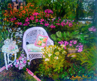 """Painting titled """"Happy Vibes"""" by Sunshine Amos (Happipaints), Original Art, Acrylic"""