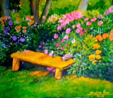 """Painting titled """"Love It Here"""" by Sunshine Amos (Happipaints), Original Art, Acrylic"""