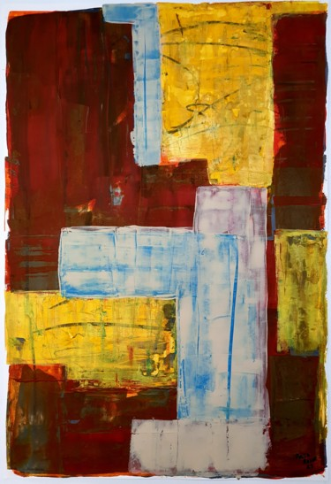 """Painting titled """"Tudo outra vez"""" by Paulo Rosae, Original Art, Acrylic Mounted on Other rigid panel"""
