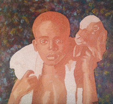 Africa Painting, mosaic, artwork by Hassan Rachid