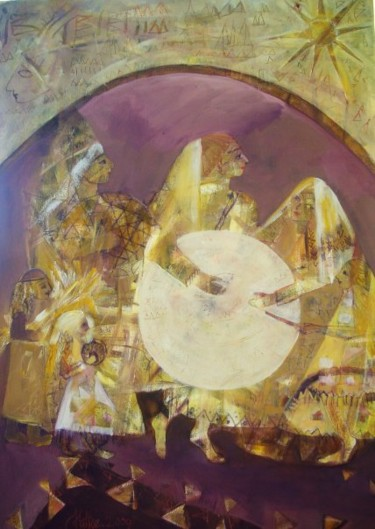 """Painting titled """"drum entertainment"""" by Hatice Kilicaslan, Original Art, Oil"""