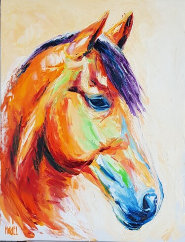"""Painting titled """"Horse in colors"""" by Daniel Havel, Original Art, Oil"""