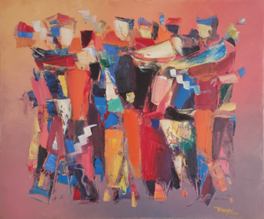 """Painting titled """"Abstraction-24"""" by Hayk Miqayelyan, Original Art, Oil Mounted on Stretcher frame"""