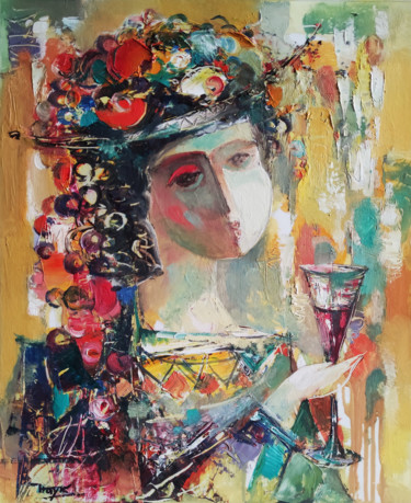 Portrait Painting, oil, abstract, artwork by Hayk Miqayelyan