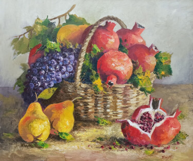 """Painting titled """"Autumn fruits (60x7…"""" by Hayk Miqayelyan, Original Art, Oil Mounted on Stretcher frame"""