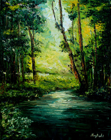 """Painting titled """"Forest"""" by Haykuhi Khachatryan, Original Art, Oil"""