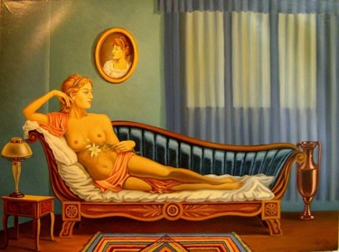 """Painting titled """"nude"""" by Gyuri Lohmuller, Original Art, Oil"""