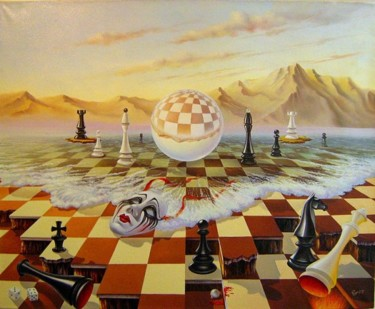 """Painting titled """"the fools rules the…"""" by Gyuri Lohmuller, Original Art, Oil"""