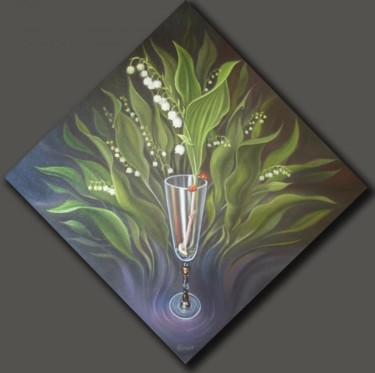 """Painting titled """"Lily of the valley…"""" by Gyuri Lohmuller, Original Art, Other"""