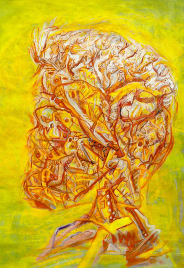"""Painting titled """"The Methane man"""" by Geert Heirbaut, Original Art, Acrylic"""