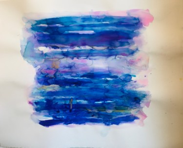 Color Painting, ink, abstract, artwork by Hélène Galante