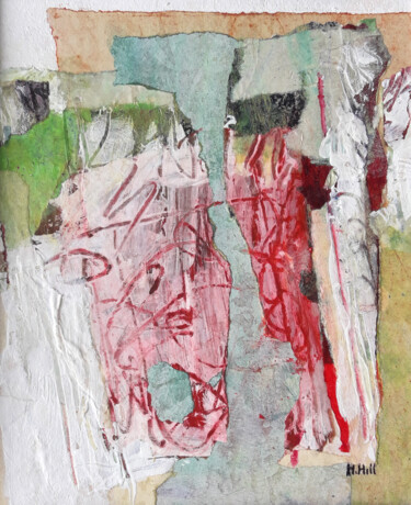 """Collages titled """"Les Cévennes II"""" by Helen Hill, Original Art, Collages"""