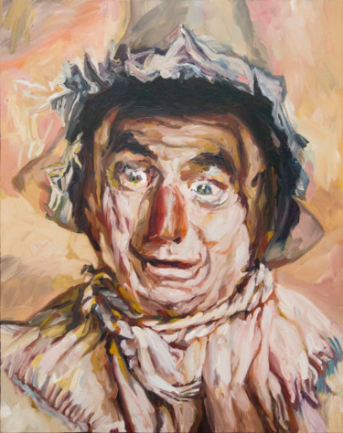 """Painting titled """"The Scarecrow from…"""" by Jérôme Hémain, Original Art, Oil"""