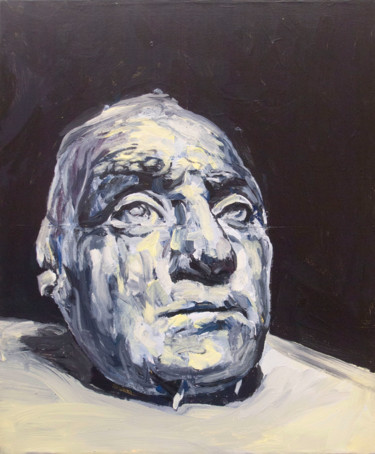 """Painting titled """"Life mask from Geor…"""" by Jérôme Hémain, Original Art, Acrylic"""