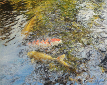 Fish Painting, oil, figurative, artwork by Muriel Henry