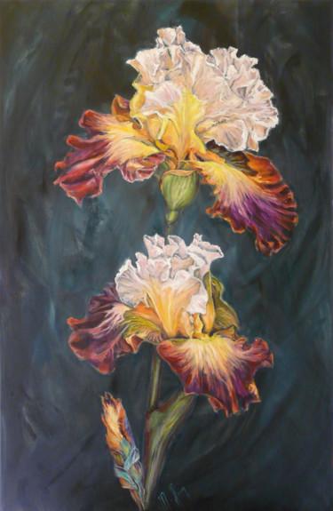 Flower Painting, oil, figurative, artwork by Muriel Henry