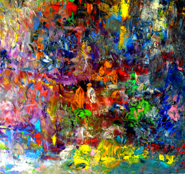 Abstract Painting, oil, abstract, artwork by Hervé Laurent