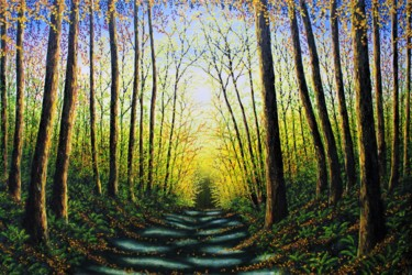 """Painting titled """"Patterns Of Forest…"""" by Hazel Thomson, Original Art, Oil"""